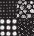 Seamless pattern polka dot texture on black vector image