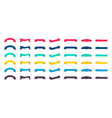 set ribbon banners labels and flags for sale vector image vector image