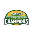 south africa rugby champions vector image vector image