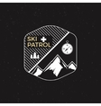 Stamp ski patrol camp Tourism hipster style patch vector image vector image
