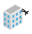Suicide icon isometric 3d style vector image vector image