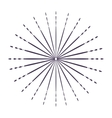 Sunburst in black and white colors design vector image vector image