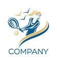 tennis player logo vector image vector image