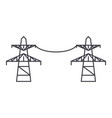 transmission lines line icon concept transmission vector image vector image