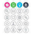 universal icons smartphone mail and music vector image vector image