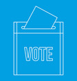 vote box icon outline style vector image vector image