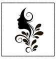 woman profile style salon silhouette vector image vector image