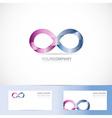 Infinite infinity 3d logo design concept vector image