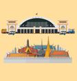 train station and palace in bangkok vector image