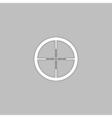 Crosshair computer symbol vector image