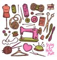 Accessories And Equipment For Sewing vector image vector image