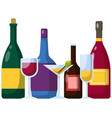 alcohol decorated to be served to guest at bar vector image vector image