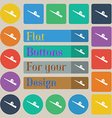 Baseball icon sign Set of twenty colored flat vector image