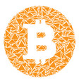 bitcoin coin mosaic of triangles vector image