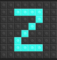 blocks in english capital letter z alphabet set vector image