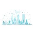 bogota architecture line skyline vector image vector image