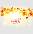 bright fall leaves vector image vector image