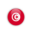 button tunisia flag template design vector image vector image