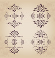 calligraphic design elements in vintage style vector image vector image