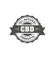 cannabidiol cbd stamp cbd oil natural food sign vector image