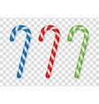 christmas cane candy vector image