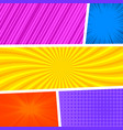 colorful abstract comic composition vector image vector image