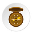 compass icon circle vector image