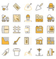 concrete and cement colored icons vector image