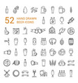 craft beer pixel-perfect icons in the modern style vector image vector image