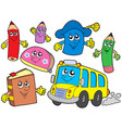 cute school collection vector image