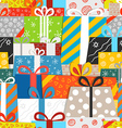 Different gift boxes seamless pattern vector image vector image