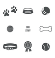 Dog stuff set vector image