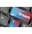 dream button showing concept of idea creativity vector image