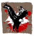 Eagle grunge design vector image