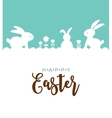 Easter design with cute banny vector image vector image