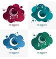 eid mubarak liquid gradation background 2 vector image vector image