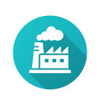 factory icon with long shadow for graphic and web vector image