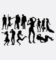 female people silhouettes vector image