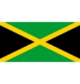 flag jamaica in correct proportions and colors vector image vector image