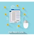 flat design web marketing vector image vector image