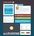 Flat User Interface Kit for web and mobile 4 vector image vector image