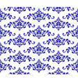 floral blue pattern vector image vector image