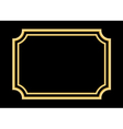 Gold frame Beautiful simple golden black vector image vector image