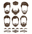 hairstyle and beard hipster fashion barbershop vector image