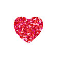 heart shape lined with paper hearts happy vector image vector image