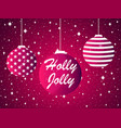 holly jolly christmas ball and fireworks sparks vector image vector image