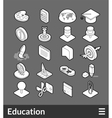 Isometric outline icons set vector image vector image