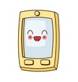 kawaii cellphone with buttons icon vector image vector image