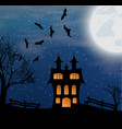 landscape with halloween castle vector image