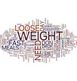 loose weight fast text background word cloud vector image vector image